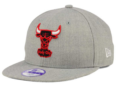 Chicago Bulls New Era NBA HWC Youth Heather Team Color 9FIFTY Snapback Cap