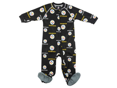 Pittsburgh Steelers NFL CN Newborn All Over Print Raglan Full Zip Coverall