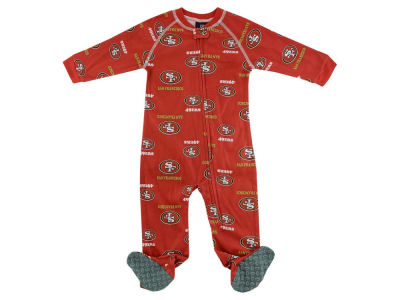 San Francisco 49ers NFL CN Newborn All Over Print Raglan Full Zip Coverall