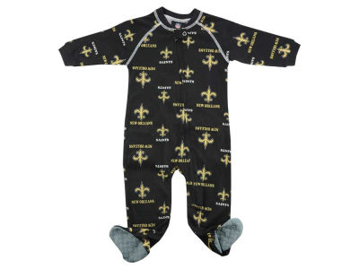 New Orleans Saints NFL CN Newborn All Over Print Raglan Full Zip Coverall
