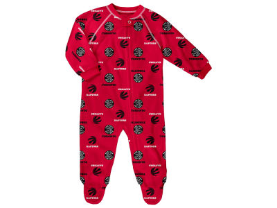 Toronto Raptors adidas NBA CN Newborn All Over Print Raglan Full Zip Coverall