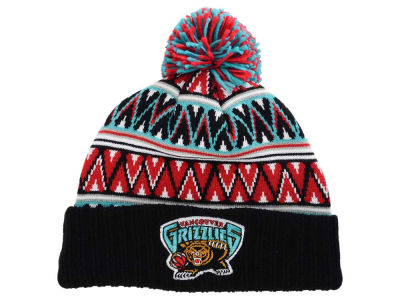 Vancouver Grizzlies Mitchell and Ness NBA Tribal HI 5 Pom Beanie