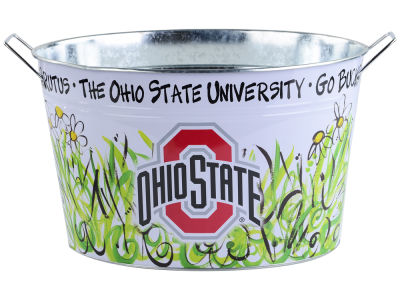 Ohio State Buckeyes Metal Bucket 15x9x10.5