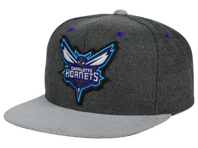 Charlotte Hornets Mitchell and Ness NBA Cation Perforated Suede Snapback Cap