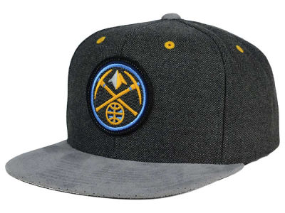 Denver Nuggets Mitchell and Ness NBA Cation Perforated Suede Snapback Cap