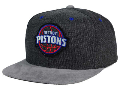 Detroit Pistons Mitchell and Ness NBA Cation Perforated Suede Snapback Cap