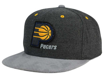 Indiana Pacers Mitchell and Ness NBA Cation Perforated Suede Snapback Cap