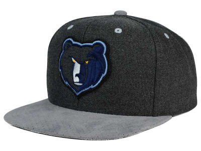 Memphis Grizzlies Mitchell and Ness NBA Cation Perforated Suede Snapback Cap