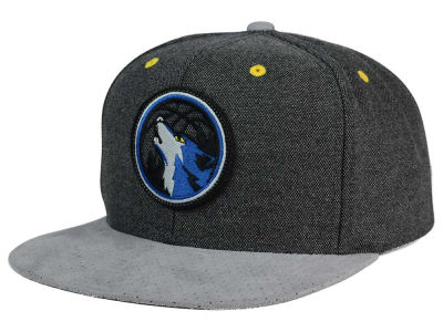 Minnesota Timberwolves Mitchell and Ness NBA Cation Perforated Suede Snapback Cap