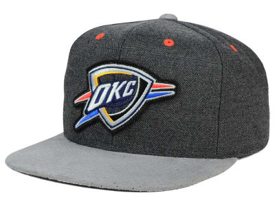 Oklahoma City Thunder Mitchell and Ness NBA Cation Perforated Suede Snapback Cap