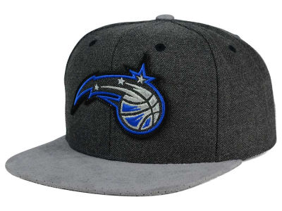Orlando Magic Mitchell and Ness NBA Cation Perforated Suede Snapback Cap