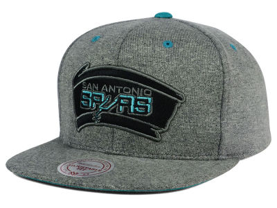 San Antonio Spurs Mitchell and Ness NBA Broad Street 2.0 Snapback Cap