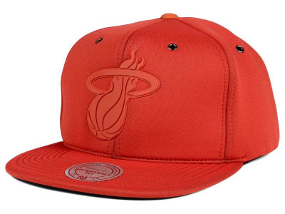 Miami Heat Mitchell and Ness NBA Neoprene Strapback Cap