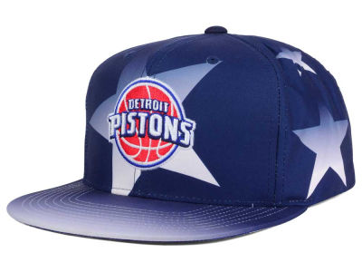 Detroit Pistons Mitchell and Ness NBA Award Ceremony Snapback Cap