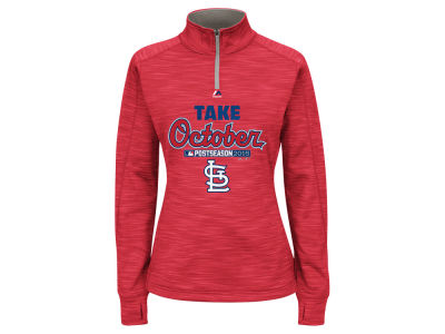 St. Louis Cardinals Majestic 2015 MLB Women's AC Postseason Take October Streak Fleece Hoodie