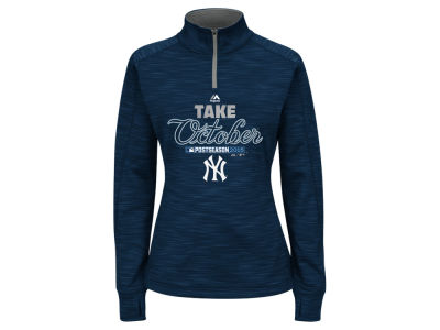 New York Yankees Majestic 2015 MLB Women's AC Postseason Take October Streak Fleece Hoodie