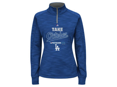 Los Angeles Dodgers Majestic 2015 MLB Women's AC Postseason Take October Streak Fleece Hoodie