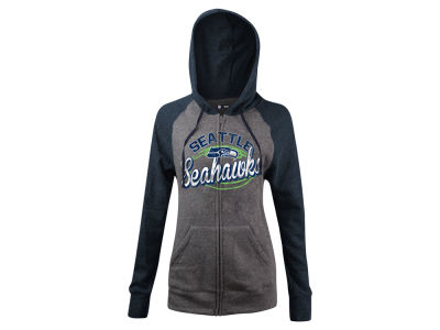 Seattle Seahawks 5th & Ocean NFL Women's Arch Full Zip Hoodie