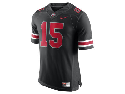 Ohio State Buckeyes #15 Nike NCAA Men's All Black Limited Football Jersey