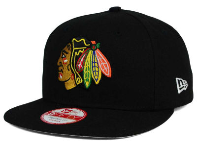 Chicago Blackhawks New Era NHL Flag Stated 9FIFTY Snapback Cap