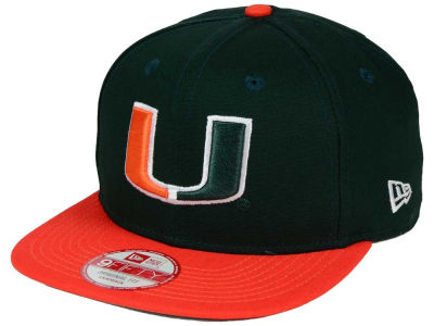 Miami Hurricanes New Era NCAA Shore Snapper 9FIFTY Snapback Cap