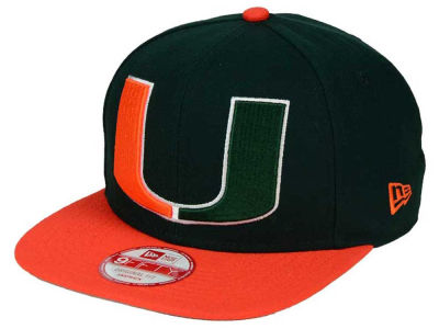Miami Hurricanes New Era NCAA Logo Grand Redux 9FIFTY Snapback Cap