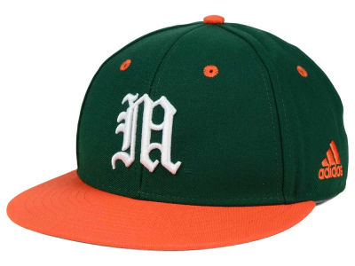 Miami Hurricanes adidas NCAA On Field Baseball Cap