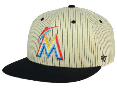 Miami Marlins '47 MLB Woodside 47 Captain Snapback Cap