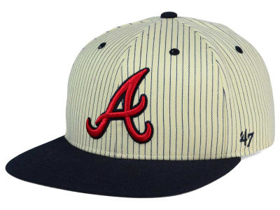 Atlanta Braves '47 MLB Woodside 47 Captain Snapback Cap