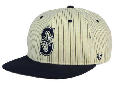 Seattle Mariners '47 MLB Woodside 47 Captain Snapback Cap
