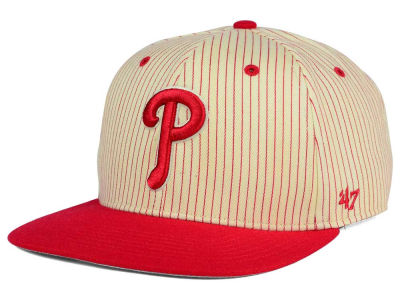 Philadelphia Phillies '47 MLB Woodside 47 Captain Snapback Cap