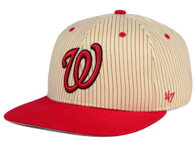 Washington Nationals '47 MLB Woodside 47 Captain Snapback Cap