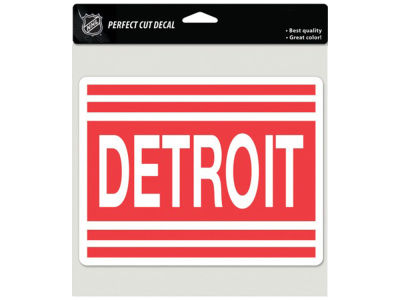 Detroit Red Wings Die Cut Color Decal 8in X 8in