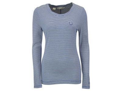 Indianapolis Colts NFL Women's Harbor Stripe Knit Long Sleeve T-Shirt