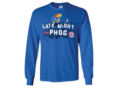 Kansas Jayhawks NCAA Men's 2015 Late Night PHOG Crowd Long Sleeve T-Shirt