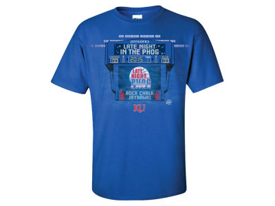 Kansas Jayhawks NCAA Men's 2015 Late Night PHOG Scoreboard T-Shirt