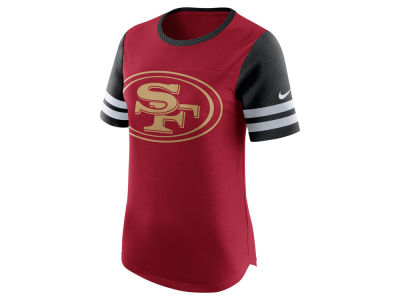 San Francisco 49ers Nike NFL Womens Gear Up Fan Top T-Shirt