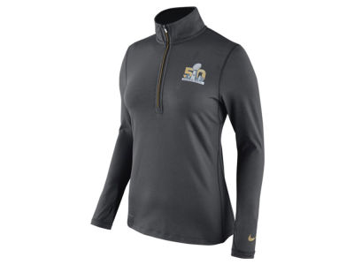 Super Bowl 50 Nike NFL Women's Super Bowl XLX Element 1/4 Zip Pullover Shirt
