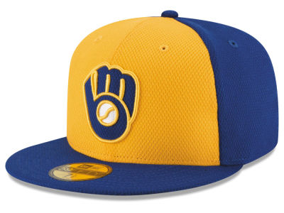 Milwaukee Brewers New Era MLB 2016 Diamond Era 59FIFTY Training Cap