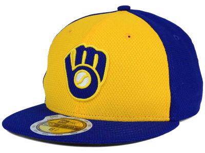 Milwaukee Brewers New Era MLB Kids 2016 Diamond Era 59FIFTY Cap