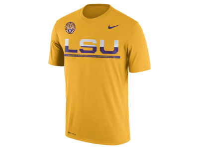 LSU Tigers Nike NCAA Mens Legend Staff Sideline T-Shirt