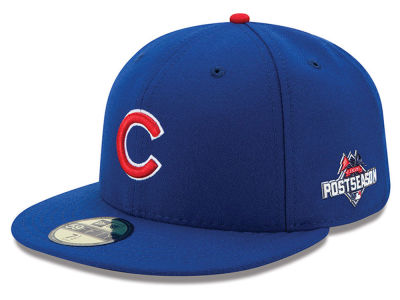 Chicago Cubs New Era MLB 2015 Youth Post Season 59FIFTY AC Patch Cap