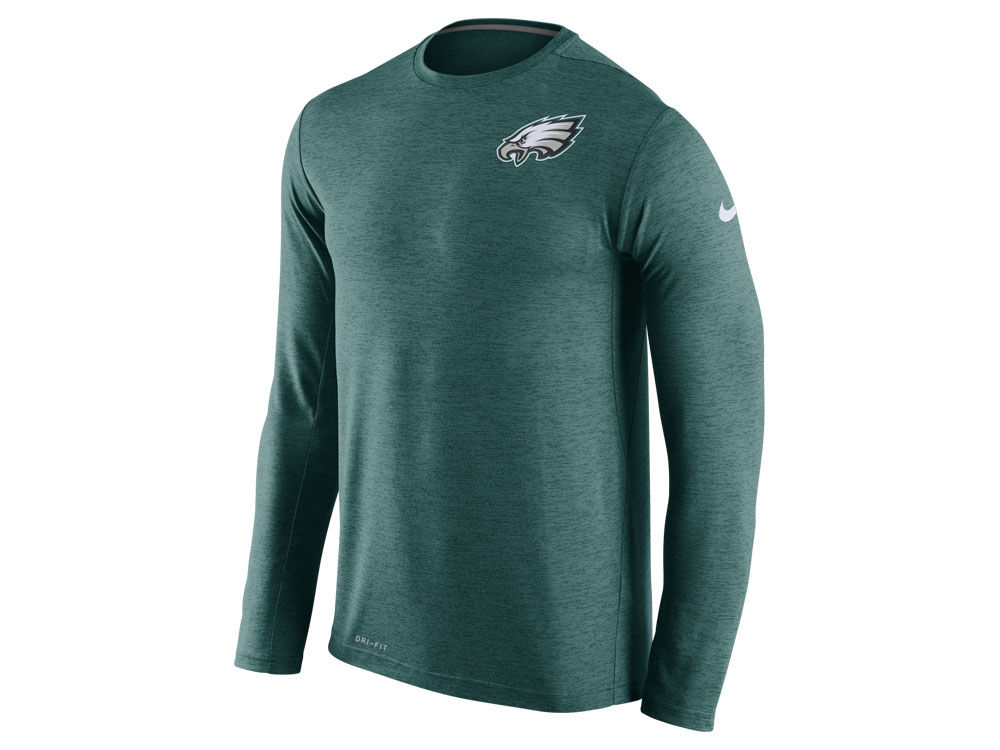 Philadelphia Eagles Nike NFL Mens Dri-Fit Touch Long Sleeve T-Shirt ... 137a6acc5