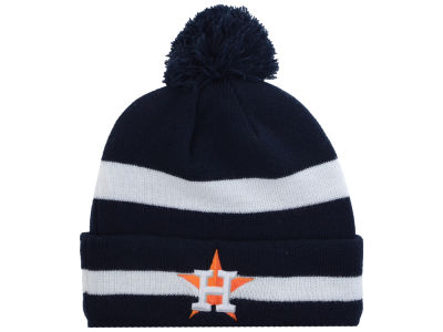 Houston Astros New Era MLB 2 Tone Striped Pom Knit