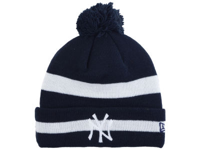 New York Yankees New Era MLB 2 Tone Striped Pom Knit
