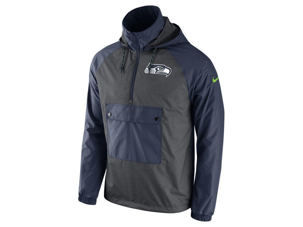 Seattle Seahawks Nike NFL Men's Anorak Pullover Jacket | lids.com
