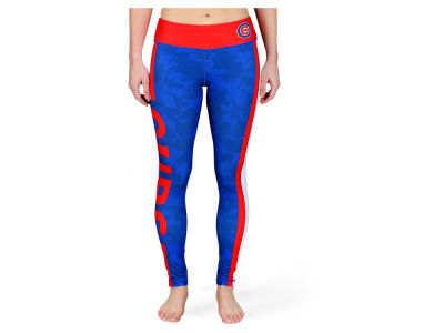 Chicago Cubs MLB Women's Team Stripe Leggings