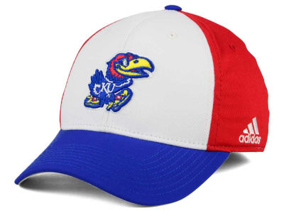 Kansas Jayhawks adidas NCAA On Field Replica Flex Cap
