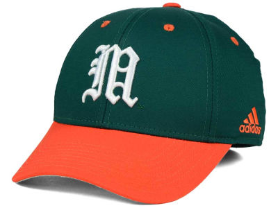 Miami Hurricanes adidas NCAA On Field Replica Flex Cap