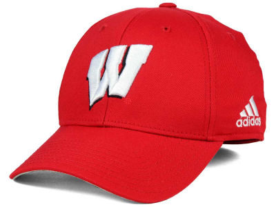Wisconsin Badgers adidas NCAA On Field Replica Flex Cap